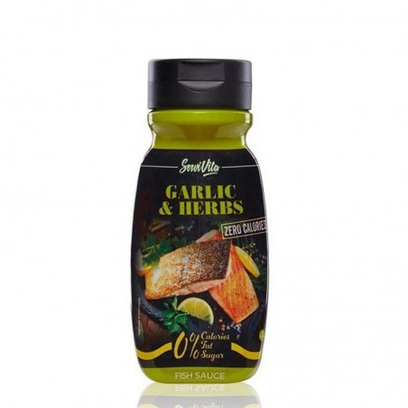 SERVIVITA GARLIC & HERBS 320 ML SIN CALORIAS
