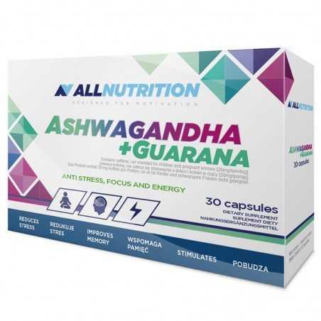 ALL NUTRITION ASHWAGANDHA + GUARANA 30CAP