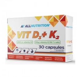 ALL NUTRITION VIT D3+K2 30CAP