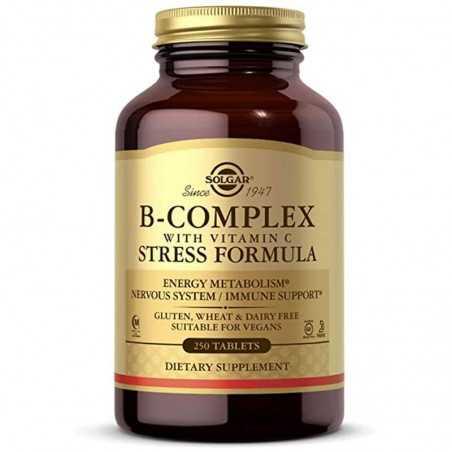 SOLGAR B-COMPLEX CON VIT C 100COMP
