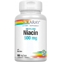 SOLARAY NIACIN 500MG 100CAP