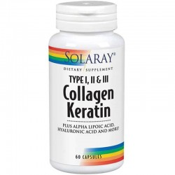 SOLARAY COLLAGEN KERATIN 60CAP