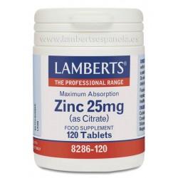 LAMBERTS ZINC 25MG 120COMP