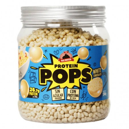 MAX PROTEIN PROTEIN POPS CHOCOLATE BLANCO 500GR