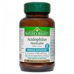 NATURE'S BOUNTY ACIDOPHILUS MASTICABLE 60COMP