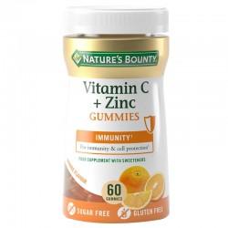 NATURE'S BOUNTY VITAMINA C + ZINC 60 GUMMIES